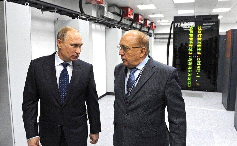 В.В. Путин на открытии суперкомпьютера в МГУ